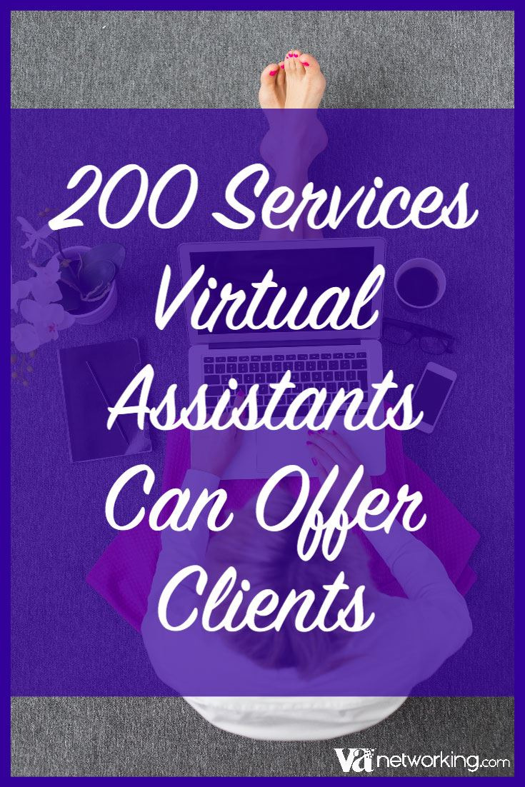 200 Services Virtual Assistants Can Offer Clients