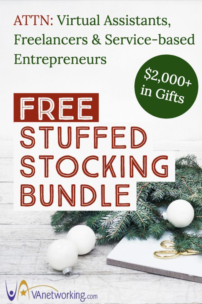 Virtual Assistant FREE Stuffed Stocking Bundle! Over $2,000 in Gifts for you