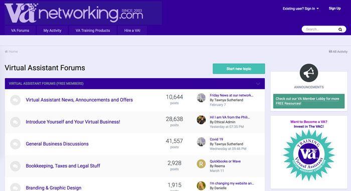 Virtual Assistant Forum
